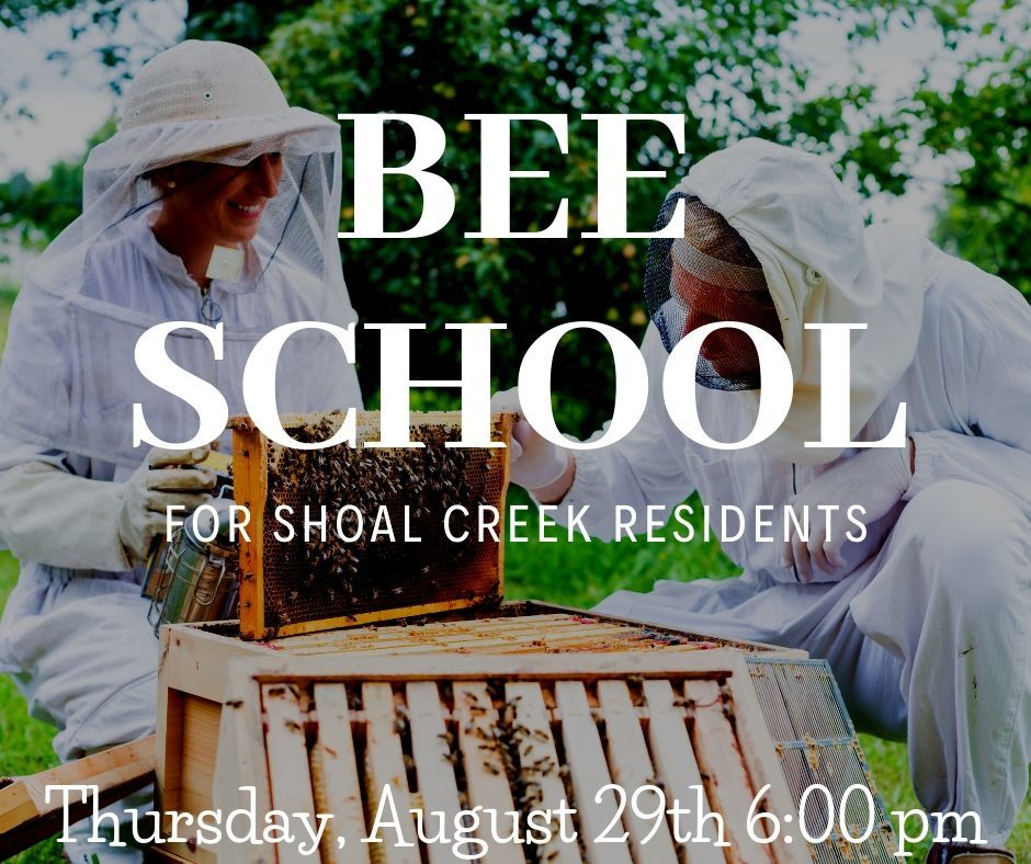 Shoal Creek Properties in Birmingham Alabama beekeeping